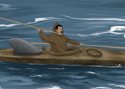 ᐊᕐᕙᒐᓱᐊᕈᓯᕗᑦ How We Hunt a Bowhead (Inuktitut)