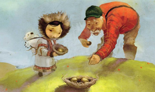 Wild Eggs: A Tale of Arctic Egg Collecting (Inuktitut)