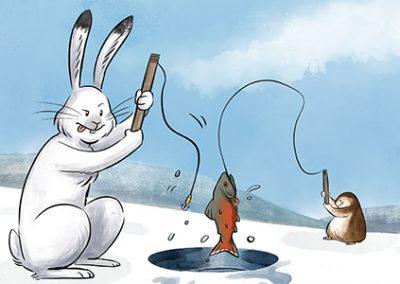 ᐅᑲᓕᖅ ᑲᓪᓚᓗ ᐃᖃᓪᓕᐊᖅᑑᒃ Ukaliq and Kalla Go Fishing (Inuktitut)
