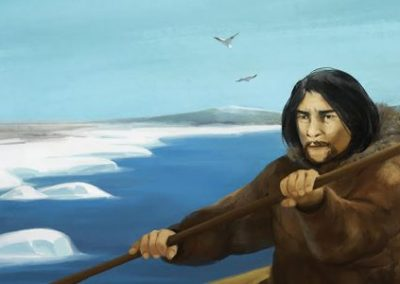 ᑭᕕᐅᕐᓗ ᐃᒍᑦᑕᕐᔪᐊᕐᓗ Kiviuq and the Bee Woman (Inuktitut)