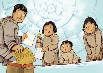 ᑎᑎᕋᐅᑦ The Pencil (Inuktitut)